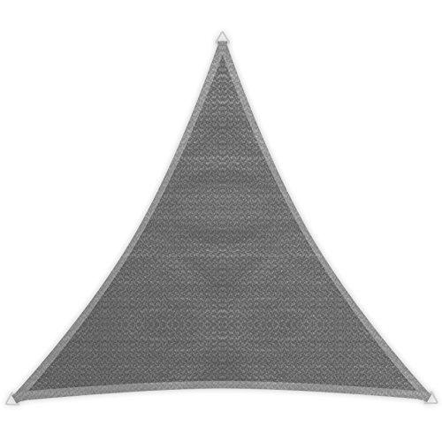 Windhager Sunsail Adria Dreieck, Sonnensegel, Sonnenschutz, 5 x 5 m (gleichschenkelig), UV-Schutz, witterungsbeständig und atmungsaktiv, 10969, GRAU, 5 x 5 x 5 m