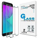 [2-Pack] KATIN For Samsung Galaxy J7 2017, J7 Prime,J7 Perx, J7 Sky Pro, J7 V, J7 Perx Tempered Glass Screen Protector No-Bubble, 9H Hardness, Easy to Install