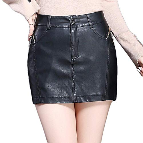 Falda Corta Mujer Verano Pantalones De Falda De Cadera De Paquete Delgado De Todo Fósforo para Mujer, Pantalones Cortos Y Botas De Cuero, Pantalones