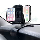 HORDZOOM Car Phone Holder Mount Strong Clip Non-Slip, 360 Degree Rotation Dashboard HUD Phone Holder for Car, Compatible with iPhone Samsung Galaxy LG Nokia Etc
