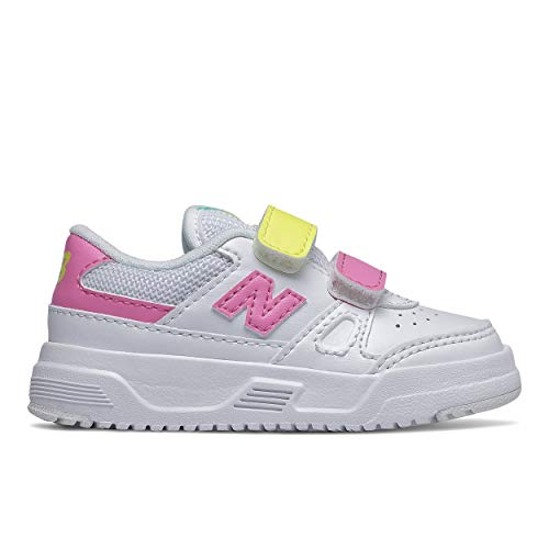 New Balance Girls CT20 V1 Hook and Loop Sneaker, Munsell White, 10 Toddler
