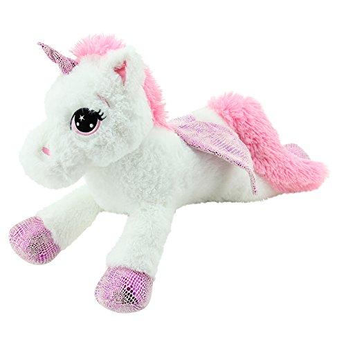 Sweety Toys 8032 licorne de peluche ours de peluche 65 cm blanche