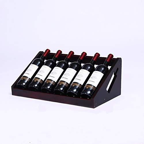 LLZX Soporte de Madera para Estante de Vino de pie para Almacenamiento con Capacidad para 6 Botellas, encimera de Vino, Estante de Cocina