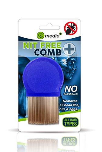 CS Medic Kamm zum Entfernen von Läusen und Läusen, Standard-Qualität, Metall, für regelmäßige Anwendung