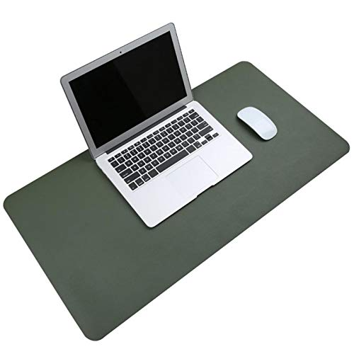WWWL mouse pad Keyboard Desk Pad Leather Mouse Pad Business Multi-Function Table Mat Water-Proof Stain-Proof Non-Slip Portable Green