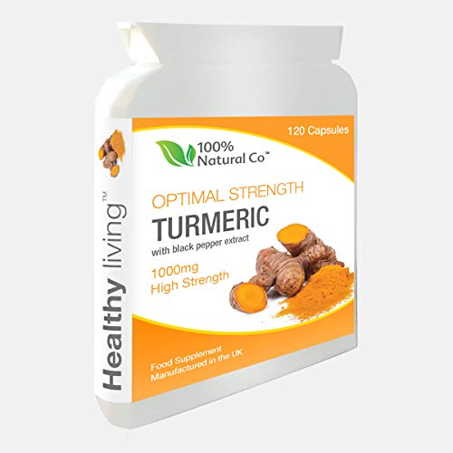 100% Natural Co Turmeric Capsules with Black Pepper Extract - 120 Vegan Capsules