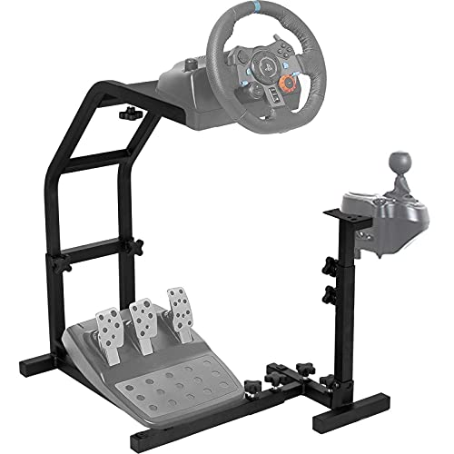 Ner Racing Simulator Lenkradständer für Logitech G29, G27, G25 Racing Wheel Pro Stand Wheel und Pedale, Nicht Enthalten Wheel Stand