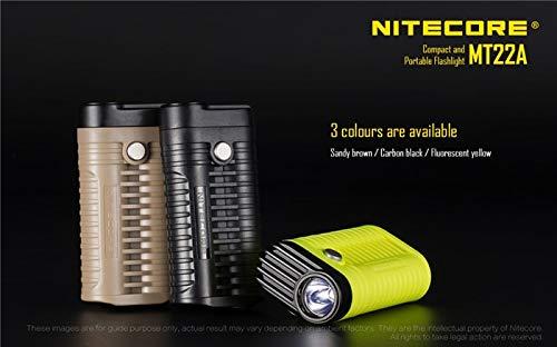 NITECORE MT22A Mini lampe de poche 2 piles AA avec clip compact et portable 260 lumens
