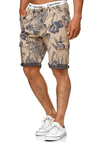 Indicode Herren Albert Cargo Shorts Hawaii mit 6 Taschen aus 100{dd76c5890d17574ab828dcb968b5da930003b32438c232d34070f75cf1cf5ca5} Baumwolle | Kurze Hose Regular Fit Bermuda Cargoshorts Herrenshorts Short Men Pants Cargohose kurz für Männer White Pepper L