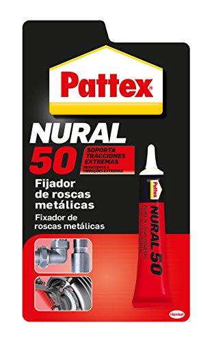 Pattex Nural 50, fijador de roscas metálicas, anaeróbico, 1 Tubo x 10 cm³