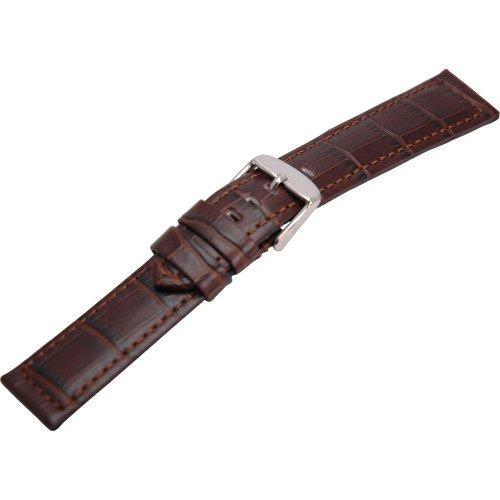 Morellato Cinturino da uomo, Collezione MANUFATTI, mod. Botero, in vera pelle di vitello - stampa alligatore - A01U2226480