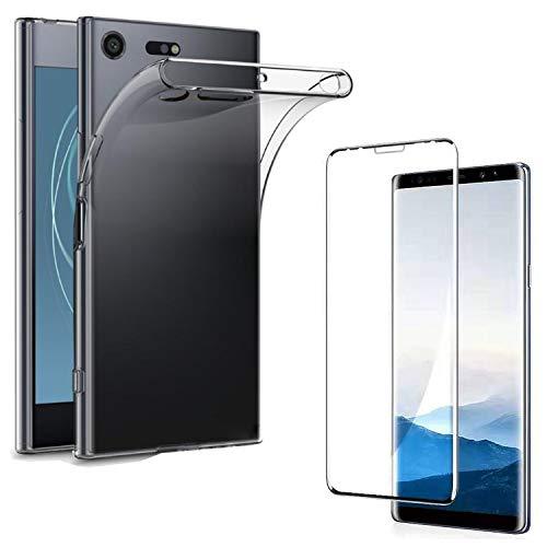 Eximmobile - Silikon Hülle Hülle + Panzerfolie kompatibel mit Huawei Ascend G730, dünne Schutzhülle + Bildschirmschutzfolie, robuste Handytasche mit Schutzfolie, TPU Cover, klare Handyhülle