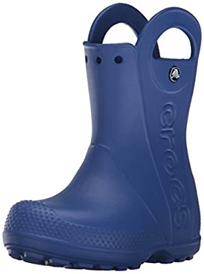 Crocs Kids' Handle It Rain Boots, Easy On for Toddlers, Boys, Girls, Lightweight and Waterproof, Cerulean Blue, 13 M US Little Kids