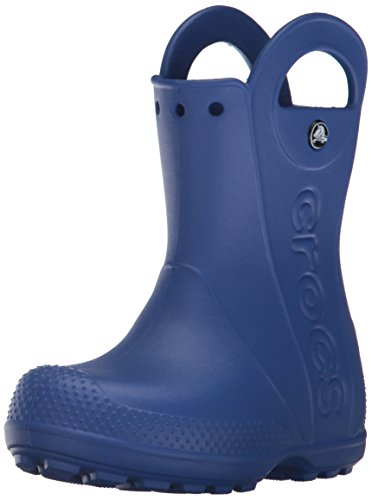 Crocs Kids' Handle It Rain Boots, Easy On for Toddlers, Boys, Girls, Lightweight and Waterproof, Cerulean Blue, 6 M US Toddler