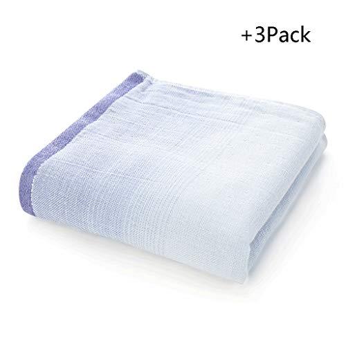 Serviette en coton absorbant épais pour bébé (Color : Green, Taille : 3Pack)