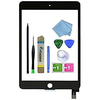 Zentop for Black iPad Mini 5 2019 7.9 inch Touch Screen Digitizer Glass Replacement Assembly Modle A2124 A2125 A2126 A2133 with Tool Repair Kit Without Home Button