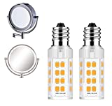 2Pack LED Makeup Mirror Bulb Replacement Mirror 20W RP34B Light Bulb fits BE151T BE71CT BE47X BE47BR for Cosmetic Vanity Makeup Mirror with Single Double Sided Lighted Magnification (6000K)