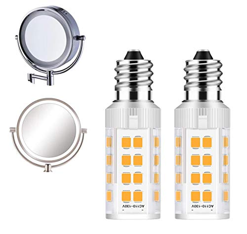 2Pack LED Makeup Mirror Bulb Replacement Mirror 20W RP34B Light Bulb fits BE151T BE71CT BE47X BE47BR for Cosmetic Vanity Makeup Mirror with Single Double Sided Lighted Magnification (3000K)