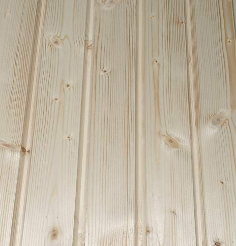 AZZAP Profilbretter Profilholz Fassadenprofil Fasebretter 20x90mm Länge:150cm Holz 20 St.