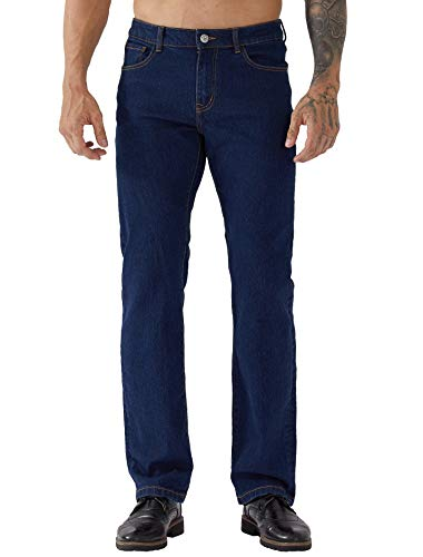 Mens Original Cotton Plain Straight Leg Denim Wash Boys Classic Fit Pocket Jeans