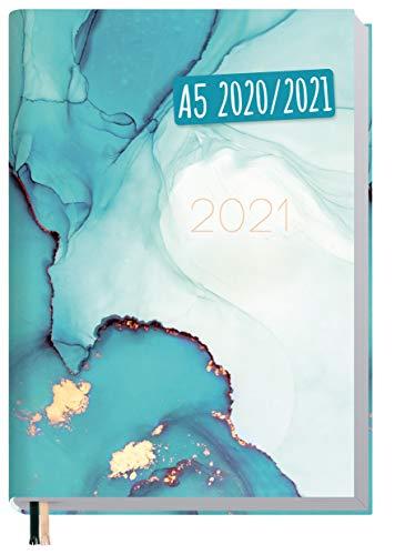 Chäff-Timer Mini A6 Kalender 2020/2021 [Smaragd Gold] Terminplaner 18 Monate: Juli 2020 bis Dez. 2021 | Wochenkalender, Organizer, Terminkalender mit Wochenplaner - nachhaltig & klimaneutral