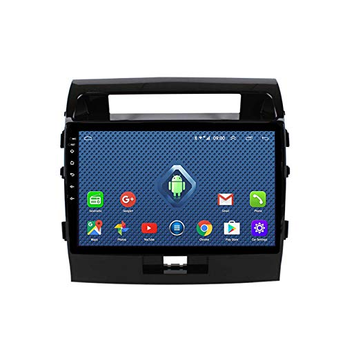 Android 8.1 Radio Para Automóvil Para Toyota Land Cruiser 200 LC200 2007-2012 Estéreo Para Automóvil Navegación GPS Pantalla Táctil Reproductor Multimedia Para(Size:Ocho núcleos,Color:4G+WIFi:2+32G)