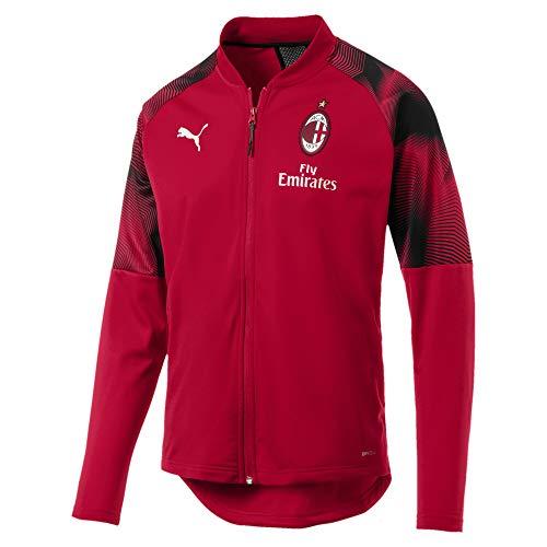 PUMA AC Milan Herren Stadium Jacke Tango Red-Puma Black L