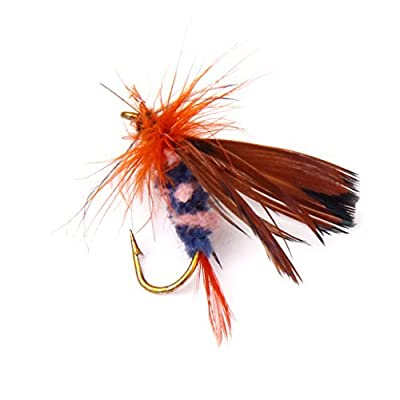 12Pcs Fly Fishing Dry Flies Lure Hooks Artificial Butterfly from WayGo