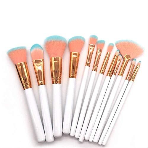 Maquillage Brosses 12 Pièces Pro Ensemble De Brosses De Maquillage Poudre Mix Ombre Eye Contour Concealer Blush Kit Brosses 12Pcs Sans Cas