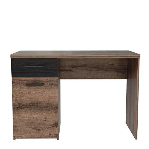 Muebletmoi - Mueble de Escritorio con 1 Puerta y 1 cajón con ...