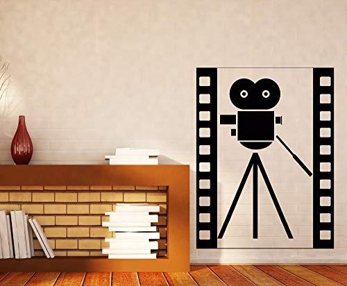 guijiumai Wand Vinyl Aufkleber abstrakte Vintage Film Kamera Symbol Wall Decal Kino Film Dekoration Film Symbol Wall Art Po54X71CM