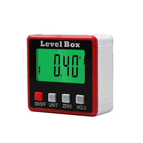 SUCHUANGUANG Digitaler Winkelmesser Neigungsmesser Level Box Winkelsucher Bevel Box mit Magnetbasis Halskettenaufbewahrung