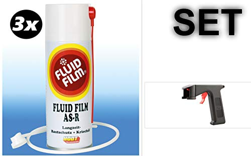 SET 3x Fluid Film AS-R 400 ml Sprühdose + Spraymaster