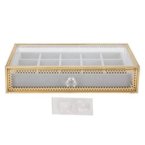 Práctica caja de almacenamiento de arte de uñas con cajón, organizador de almacenamiento de maquillaje cosmético, estuche para el hogar, organizador de arte de uñas para amantes del arte de