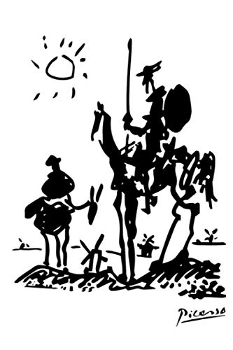 Pablo Picasso Don Quixote 1955 Artwork Shirt Reproduction Notebook: (110 Pages, Lined, 6 x 9)