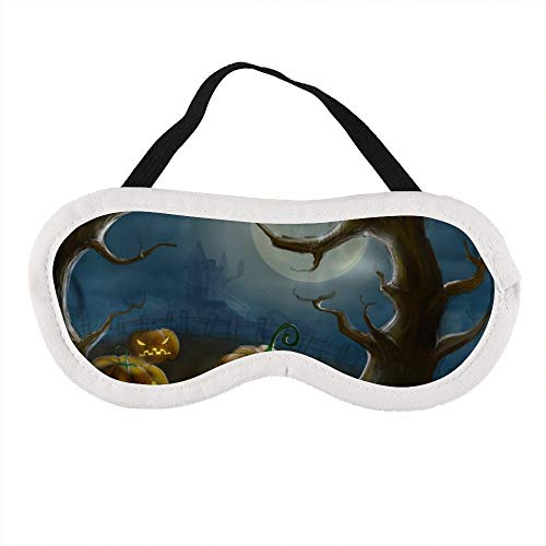 Draagbaar Oogmasker voor Mannen en Vrouwen, Halloween Tekenen Verf De Beste Slaap masker voor Reizen, dutje, geven U De Beste Slaap Omgeving