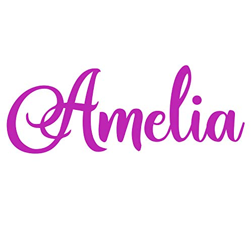 Personalized Name Wall Vinyl Decal Sign 12' 24' 36' Wide Options   Customize Baby, Boy,Girl and Home Décor   House Decoration for Baby Shower and Nursery  C01D01