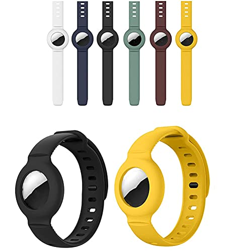 Para Apple Airtag Funda protectora de pulsera de silicona con GPS Buscador de niños Anti-perdida, Para Airtags Locator Funda protectora Correa de reloj, seguimiento de posicionamiento (2 color