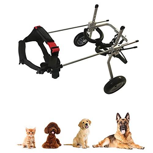 Coche para caminar con silla de ruedas para perros, silla de ruedas para mascotas, para discapacitados, coche para caminar con ayuda para perros (para mascotas de 2 a 45 kg), fácil de montar, aju