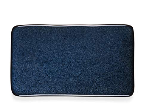 BITZ - Servierplatte - Teller - Steinzeug - 22x12,8 cm - Blue/blau