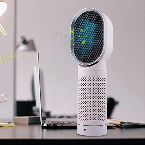 WQY Portable Small Air Cleaner Ozone Generator Best Home Desktop USB Personal Air Purifier with Hepa Filter