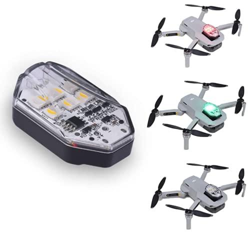 Ulanzi Drone Flash LED Light 3 Colores para dji Drone, la mayoría de los Drones aplicables Night Drone Accesorios, 14 g de Peso estroboscópico Drone Light