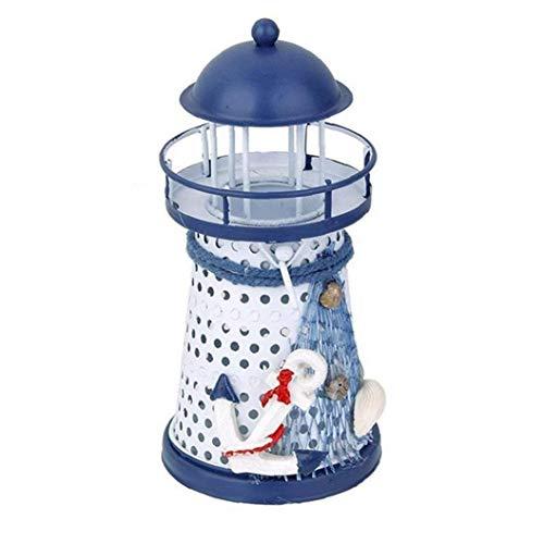 Naisicatar Leuchtturm Kerzenständer aus Metall handgemachte Fertigkeit Teelichter-Halter Hauptdekoration nautischthemenorientiertes Ornament