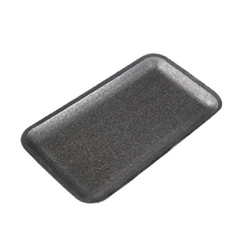 CKF 10SB, 10S Black Foam Meat Trays, Disposable Standard Supermarket Meat Poultry Frozen Food Trays, 100-Piece Bundle