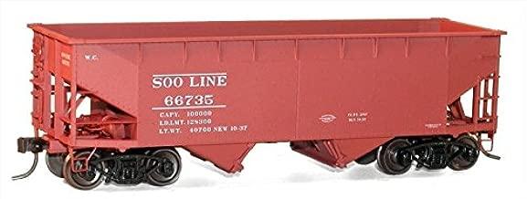 Accurail 7722 HO Soo Line 50-Ton Offset-Side 2-Bay Hopper - Kit #66735