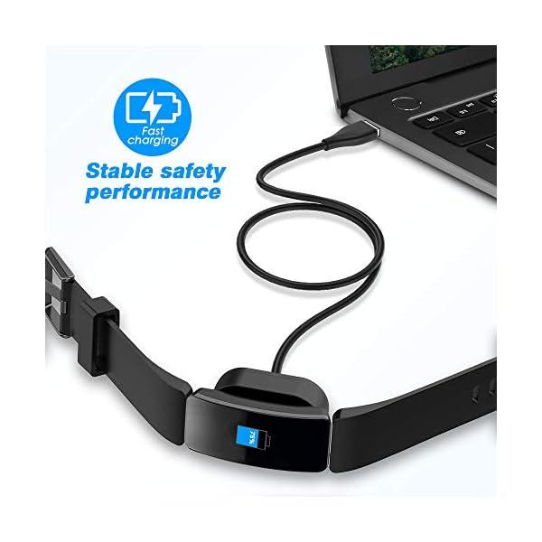 KIMILAR Cable Compatible con Fitbit Inspire/Inspire HR Cable de Carga, (1 Pcs) Cargador Charger (100cm / 3.3ft) USB de… 3