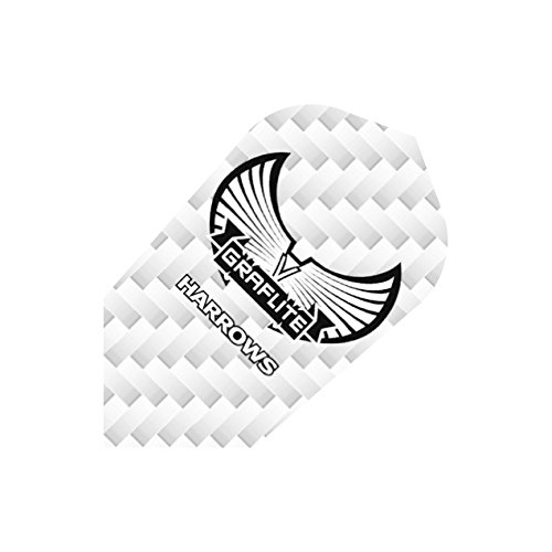 3-ER SETS HARROWS GRAFLITE DARTS FLIGHTS SILBER D NN (3 Sets)