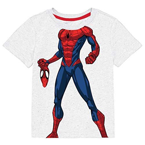 Camiseta de disfraz de Spider-Man para jóvenes, color blanco Blanco blanco 4