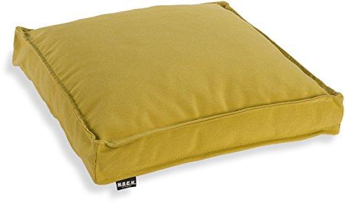 H.O.C.K. Classic Uni Outdoor Sitzkissen Stuhlkissen für drinnen und draußen aus 100% Polyacryl(dralon®) – in verschiedenen Farben (50x50x5cm, grün)