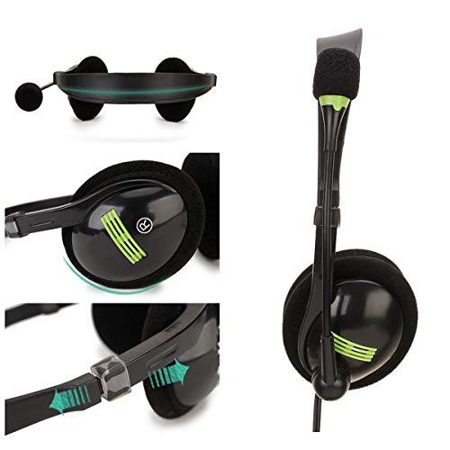 ROSEBEAR Auriculares USB con Micrófono Auriculares en La Oreja con Interruptor de Micrófono Control de Volumen con Cancelación de Ruido Boom Mic para Teléfonos Celulares Tablet Pc Oficina en Casa